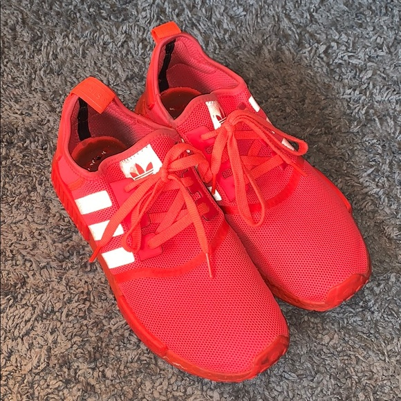 Adidas Shoes Nmd R1 Solar Red Size 10 Poshmark